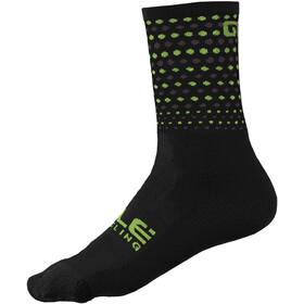 Alé Cycling Bullet Q-Skin Socks 16cm Men, black/fluo yellow